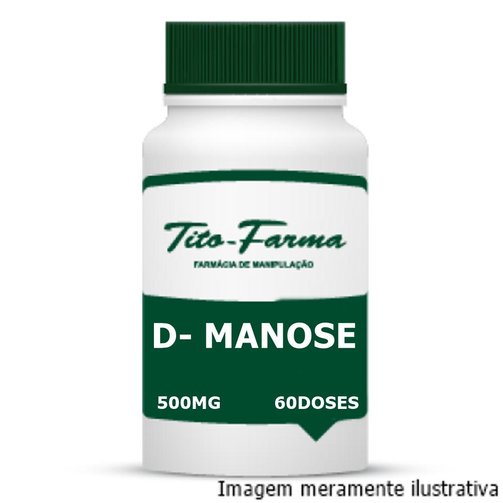 D-Manose - Auxiliar no tratamento de infecções urinárias recorrentes (500mg - 60cps) - Tito Farma