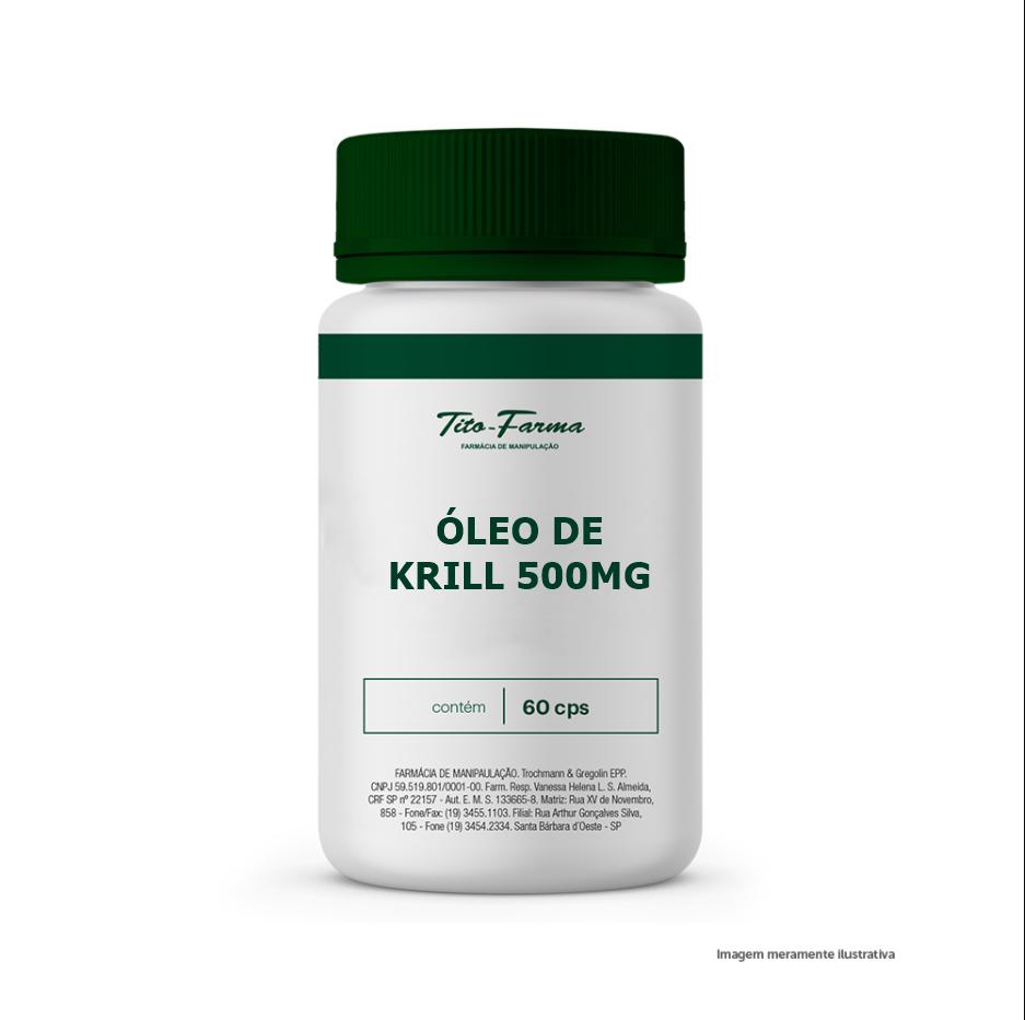 Óleo de Krill - Antioxidante e auxiliar na cognição (500mg - 60cps) - Tito Farma