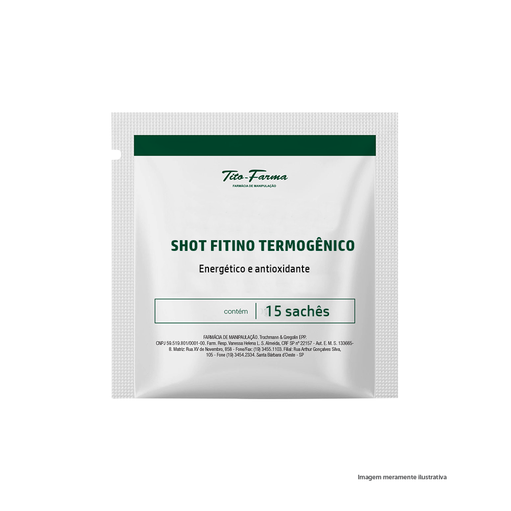 Shot Fitino Termogênico - Energético e Antioxidante - 15 sachês - Tito Farma