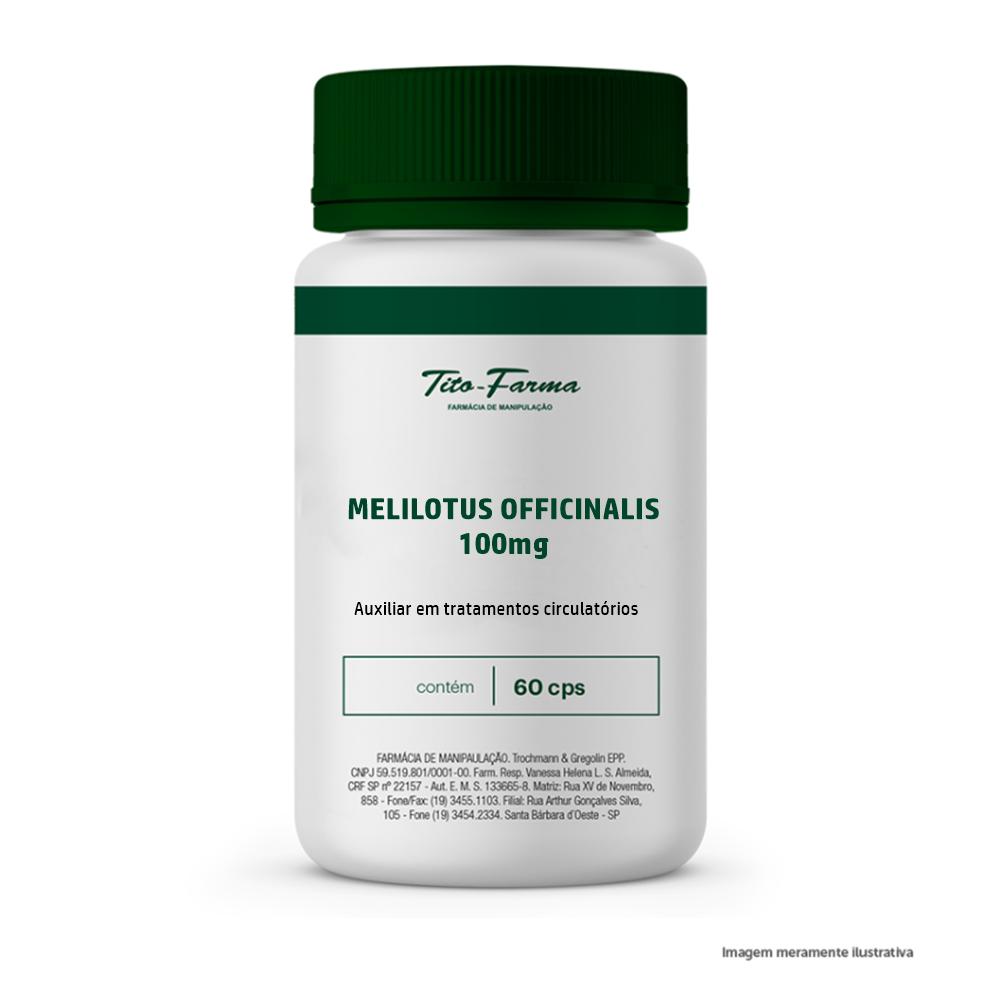 Melilotus - Auxiliar em tratamentos circulatórios (100mg - 60 cps) - Tito Farma