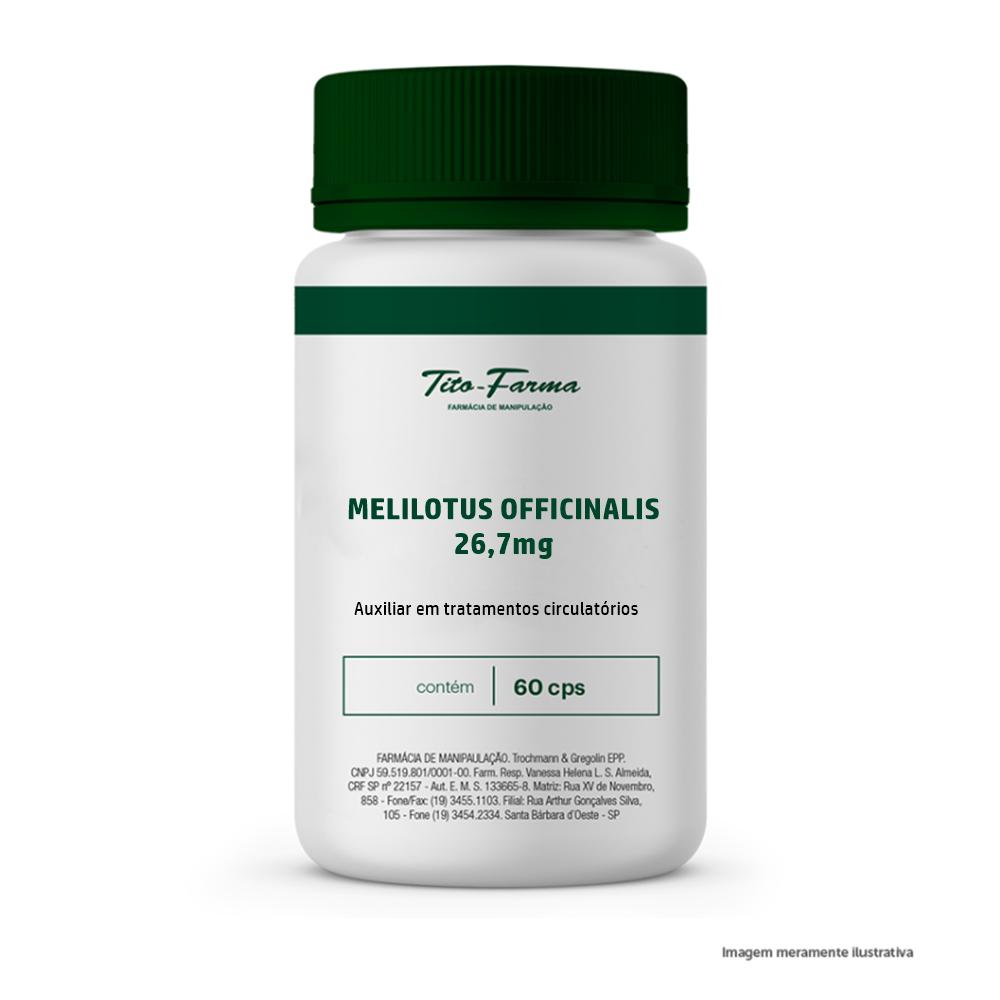 Melilotus - Auxiliar em tratamentos circulatórios (26,7mg - 60 cps) - Tito Farma
