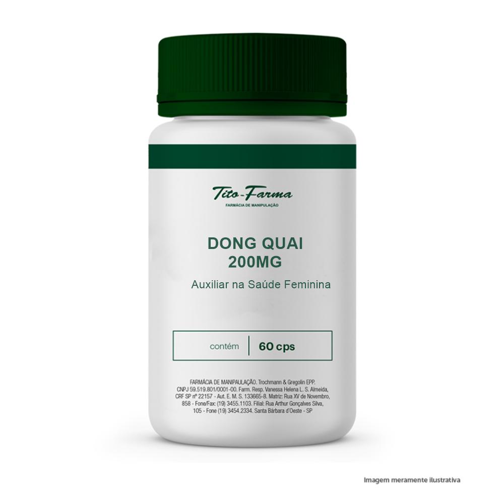 Dong Quai - Auxiliar na Saúde Feminina (200mg - 60 Cps) - Tito Farma