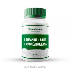 L Theanina + 5 HTP + Magnésio Glicina - Melhora da Qualidade do Sono (60 Doses)