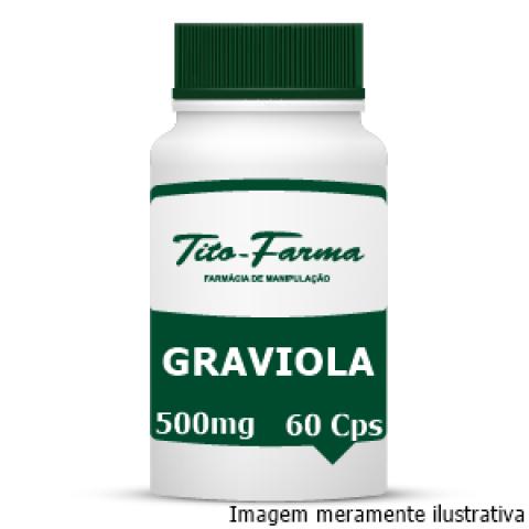 Graviola - Antiespasmódica, Vasodilatadora e Hipotensora (500mg - 60 Cps) - Tito Farma