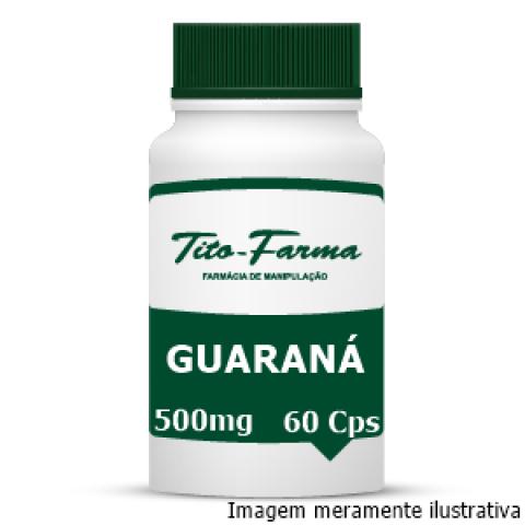 Guaraná - Afrodisíaco, Estimulante e Auxiliar no Combate ao Cansaço Físico (500mg - 60 Cps) - Tito Farma