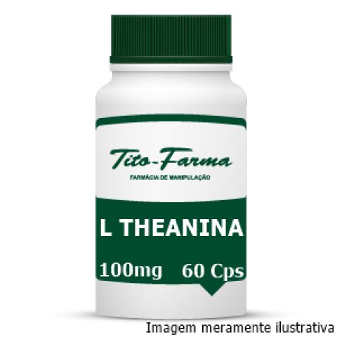 L Theanina - Auxiliar no Relaxamento, Modulação do Humor e Ansiedade (100mg - 60 Cps) - Tito Farma