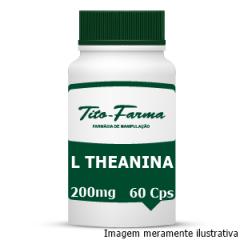 L Theanina - Auxiliar no Relaxamento, Modulação do Humor e Ansiedade (200mg - 60 Cps)