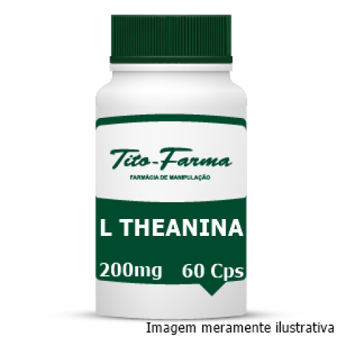 L Theanina - Auxiliar no Relaxamento, Modulação do Humor e Ansiedade (200mg - 60 Cps) - Tito Farma
