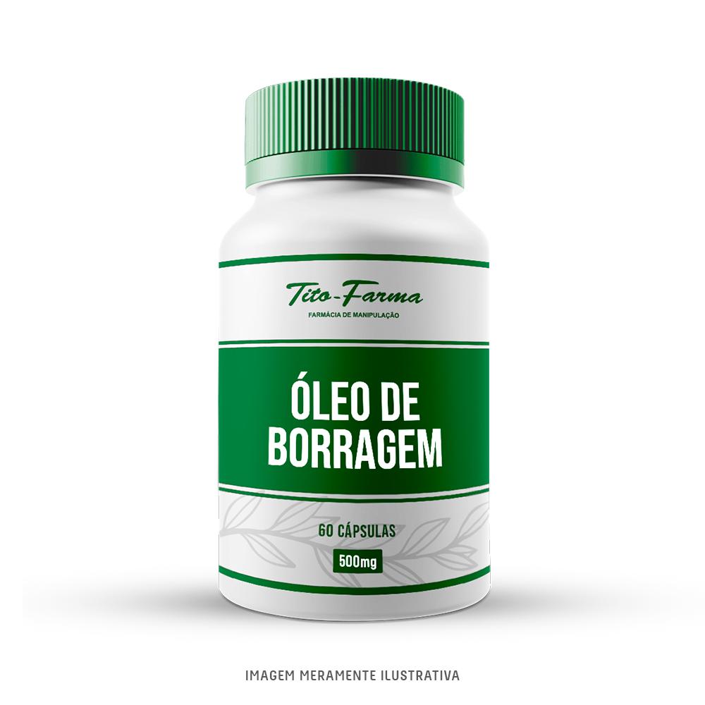 Óleo de Borragem - Auxilia nos Sintomas da Ansiedade, TPM e Menopausa (500mg - 60 Cps) - Tito Farma