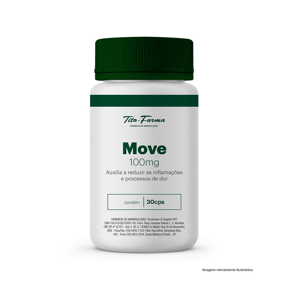 Move - Auxilia a Reduzir as Inflamações e Processos de Dor (100mg - 30 Cps) - Tito Farma