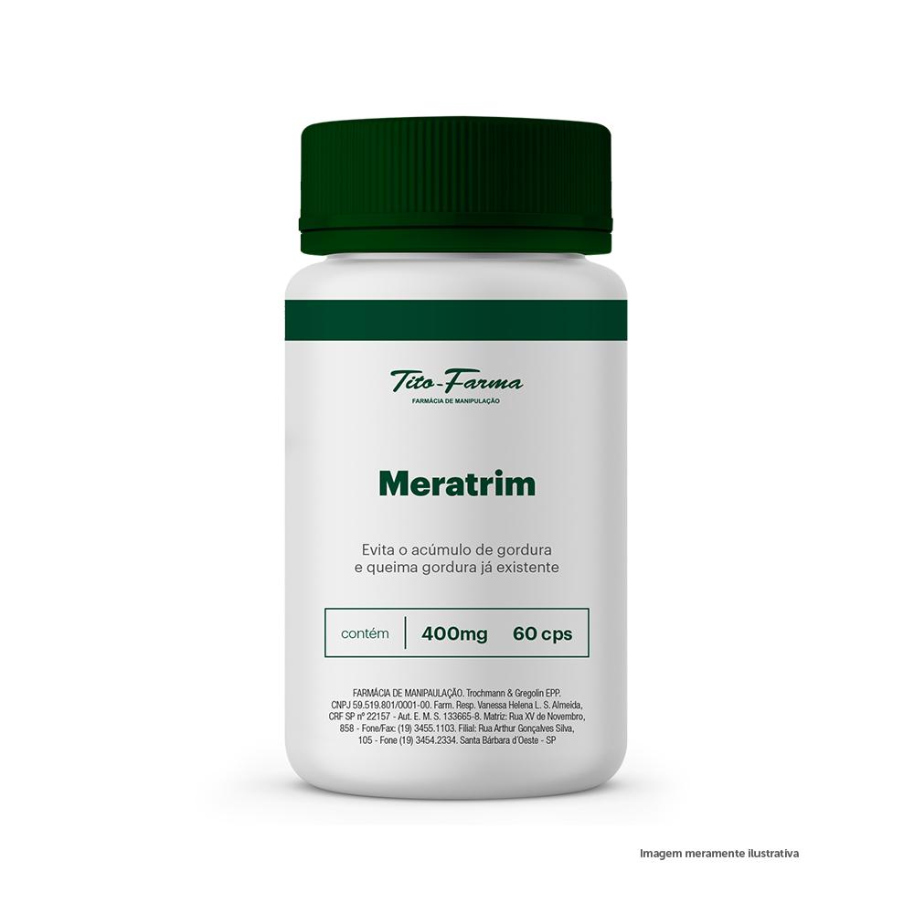 Meratrim - Evita o Acúmulo de Gordura e Queima Gordura Já Existente (400mg - 60 Cps) - Tito Farma