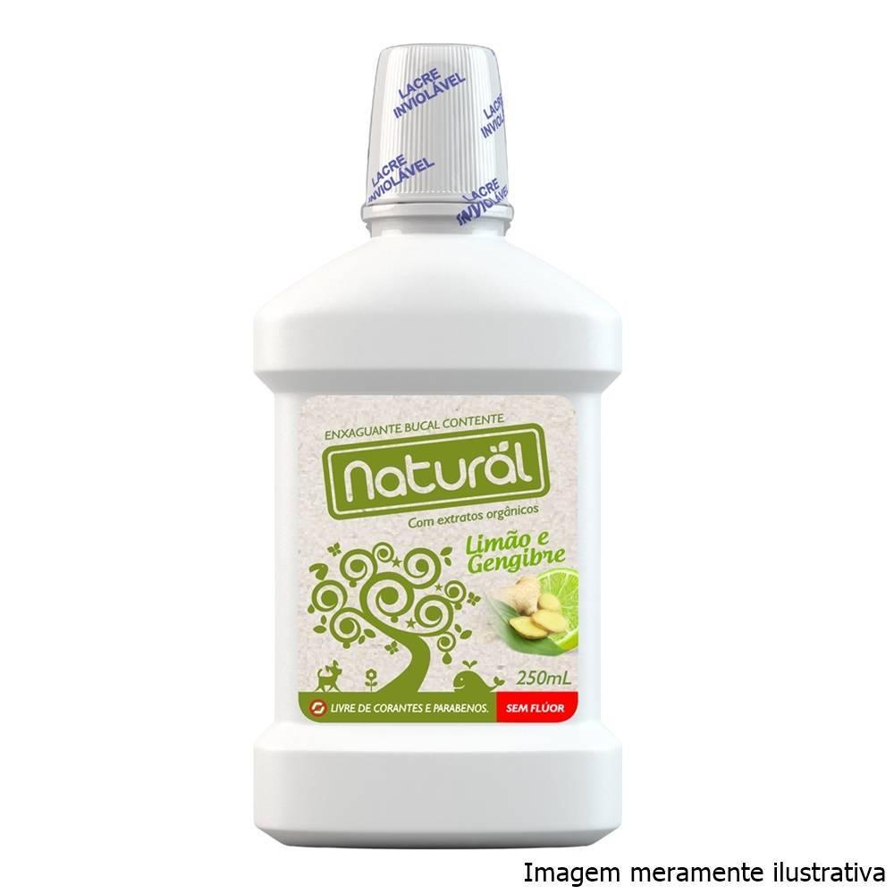Enxaguante Bucal Sem Flúor (Sabor Limão e Gengibre) - 250mL - Tito Farma