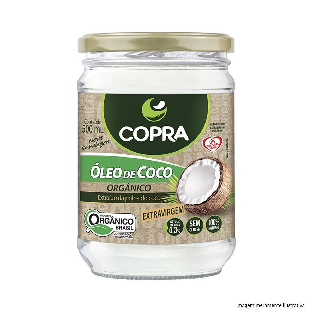 Óleo de Coco Orgânico - Promove Menor Acúmulo de Gorduras no Corpo (500mL) - Tito Farma