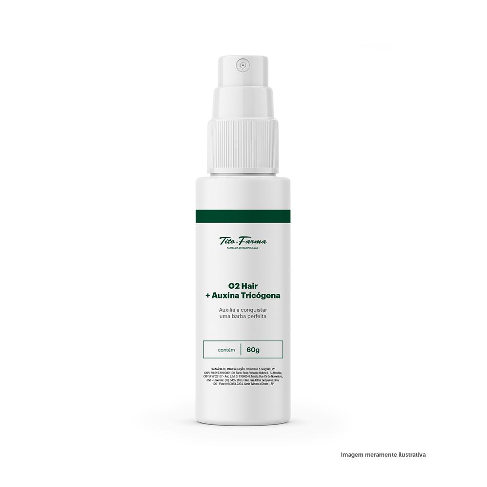 O2 Hair + Auxina Tricógena - Auxilia a Conquistar uma Barba Perfeita (60g) - Tito Farma