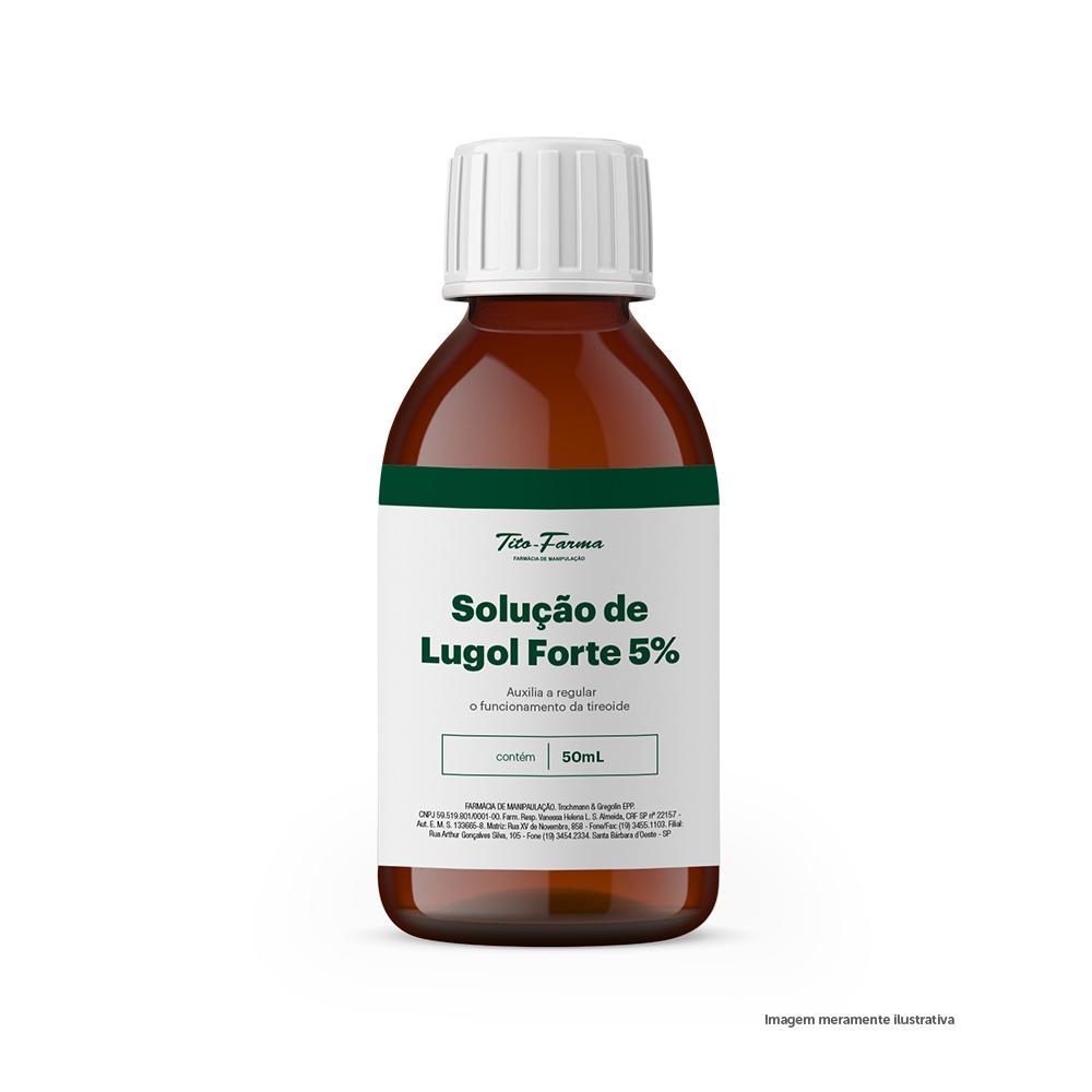 Solução de Lugol Forte - Auxilia a Regular o Funcionamento da Tireoide (5% - 50mL) - Tito Farma