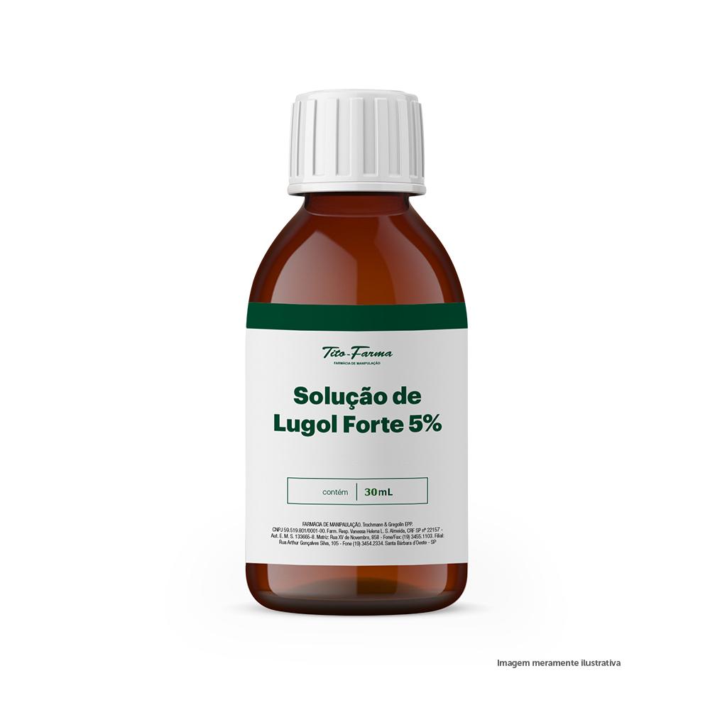 Solução de Lugol Forte - 5% - 30mL - Tito Farma