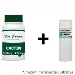Kit Para Combate a Celulite: Cactin 500mg - 120 Cps & Gel-Creme Adipo Trap + Cafeína - 150g