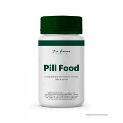 Pill Food - Complexo de Vitaminas e Minerais Para Fortalecer Cabelo, Pele e Unha