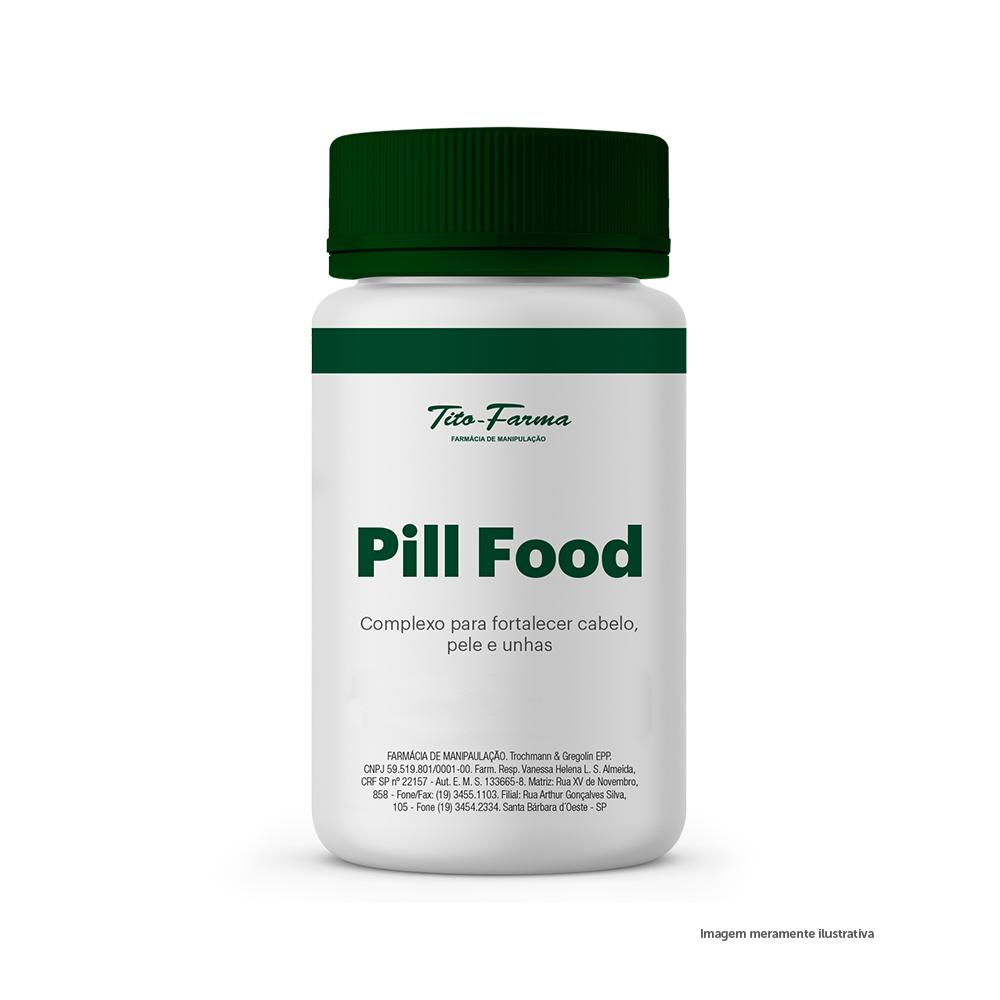 Pill Food - Vitaminas e Minerais Para Cabelo, Pele e Unha - Tito Farma
