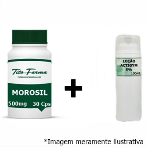Kit Para Queima de Gordura: Morosil 500mg - 30 Cps + Actigym 5% - 100mL - Tito Farma