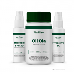 Kit Para Proteção Solar e Combate as Manchas: Oli-Ola 30 Cps + Hydrolive 30g + FPS 30 - 20g