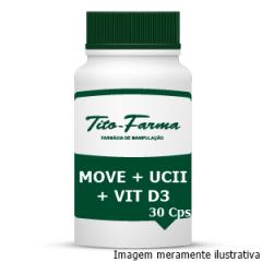 Move + UCII + Vitamina D3 - Saúde das Articulações (30 Cps)