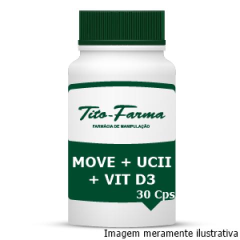 Move + UCII + Vitamina D3 - Saúde das Articulações (30 Cps) - Tito Farma