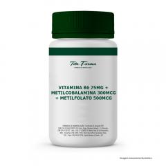 Vitamina B6 75mg + Metilcobalamina 300mcg + Metilfolato 500mcg