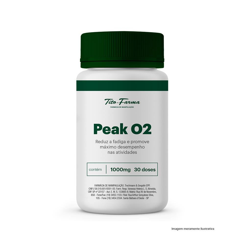 Peak O2 - Reduz a Fadiga e Promove Máximo Desempenho nas Atividades (1000mg - 30 Doses) - Tito Farma