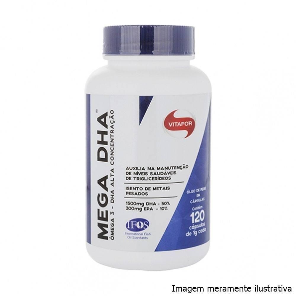 Mega DHA - Ômega 3 sem metais pesados (120 cápsulas) - Tito Farma