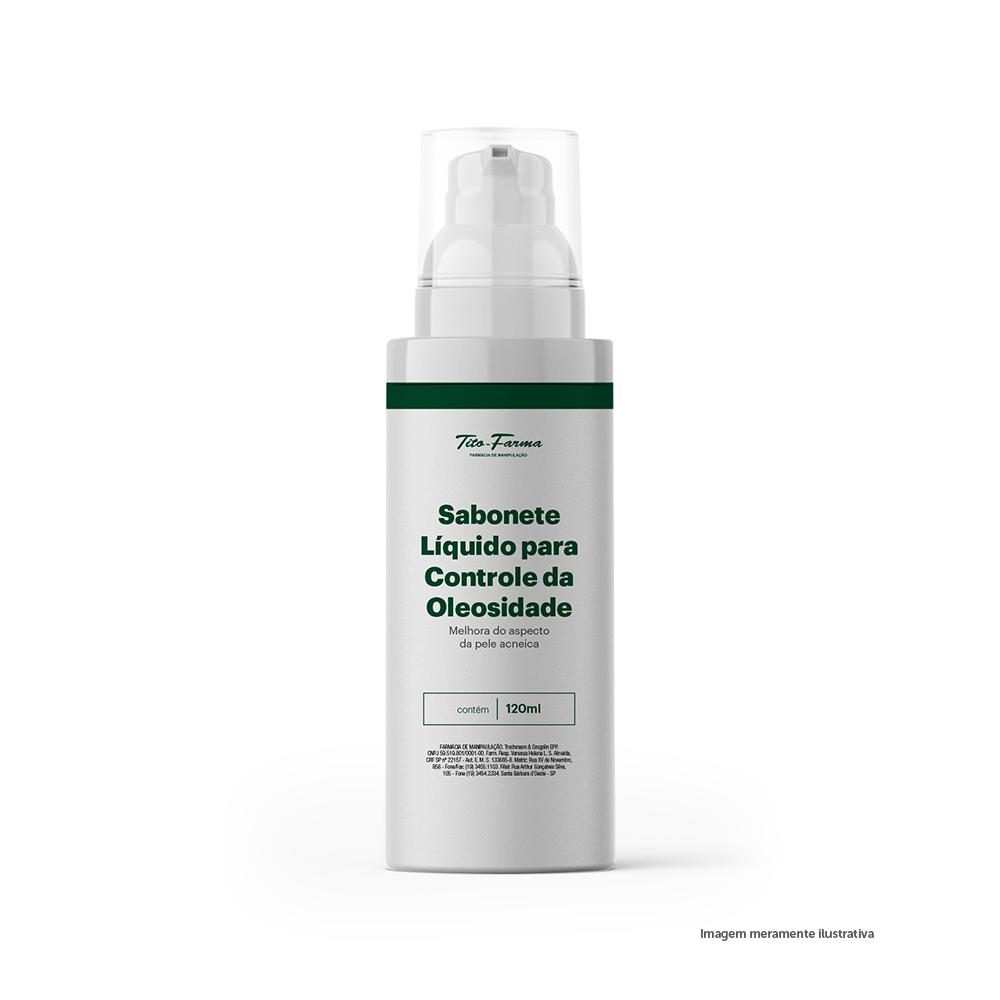 Sabonete Líquido para Controle da Oleosidade - Melhora do Aspecto da Pele Acneica (120mL) - Tito Farma