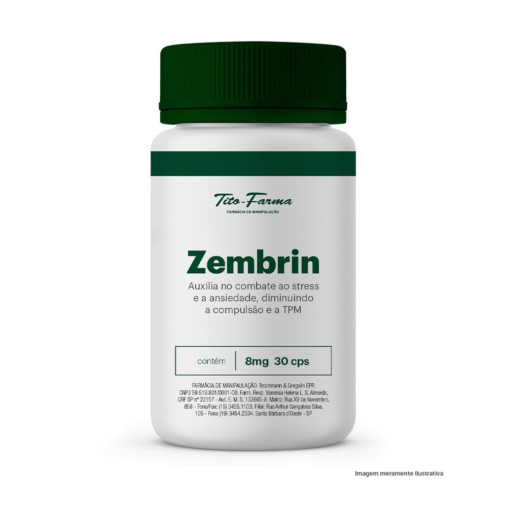 Zembrin - Auxilia no Combate ao Stress e a Ansiedade, Diminuindo a Compulsão e a TPM (8mg - 30 Cps) - Tito Farma