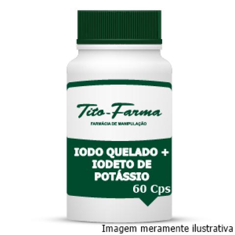 Lugol em Cápsulas (Iodo Quelado + Iodeto de Potássio) - 60 Cps - Tito Farma