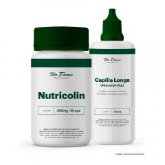 Kit Mais Fios Mulher com: Nutricolin - 30 Cps + Capilia Longa 100mL