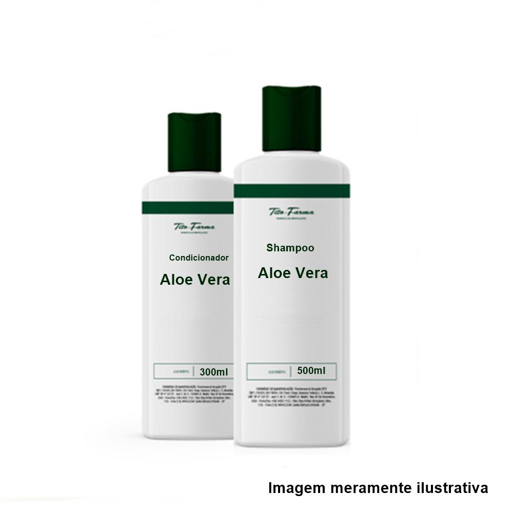 Shampoo Aloe Vera - 500mL + 1 Condicionador Aloe Vera - 300mL - Tito Farma