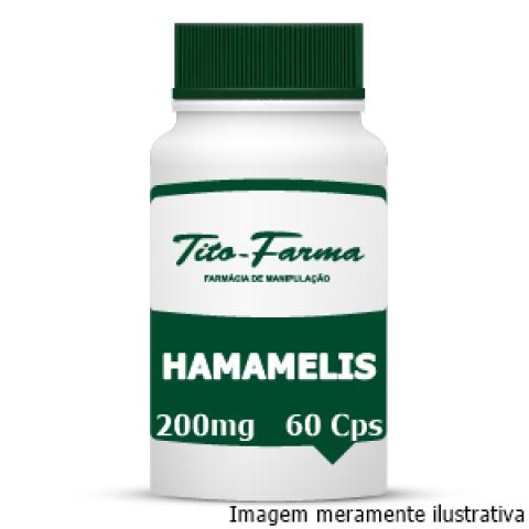 Hamamelis - Efeito Adstringente, Bactericida e Tratamento de Hemorroidas (200mg - 60 Cps) - Tito Farma