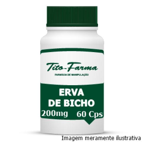 Erva de Bicho - Ação Diurética, Vermífuga e Auxiliar no Tratamento de Hemorroidas (300mg - 60 Cps) - Tito Farma