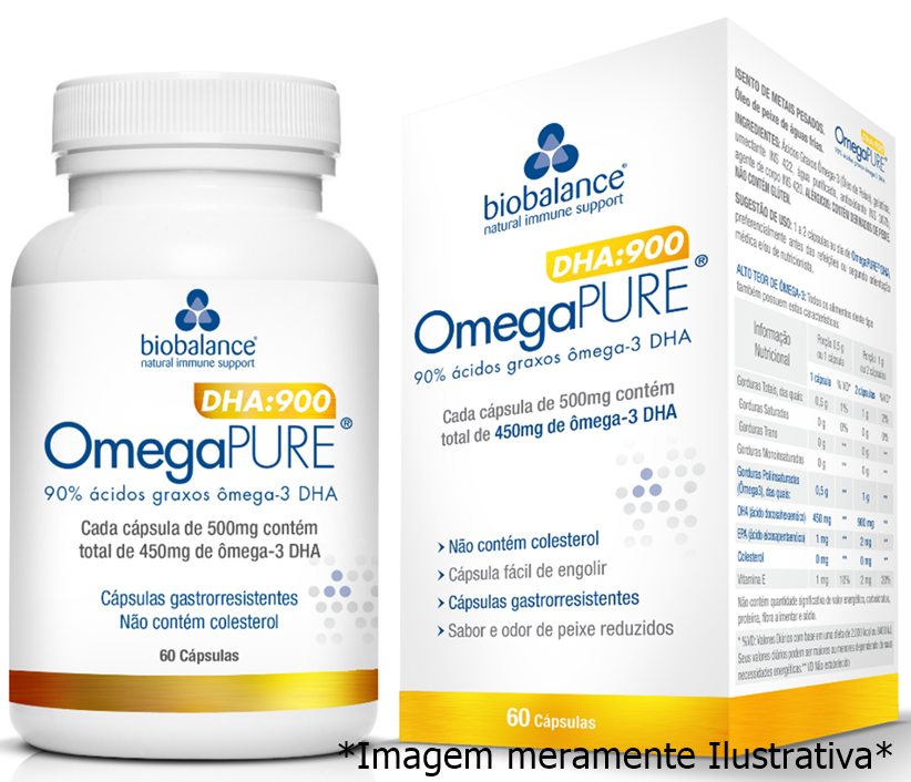 OmegaPURE DHA - Auxilia no Desenvolvimento Neuronal e Acuidade Visual (60 Cps) - Tito Farma