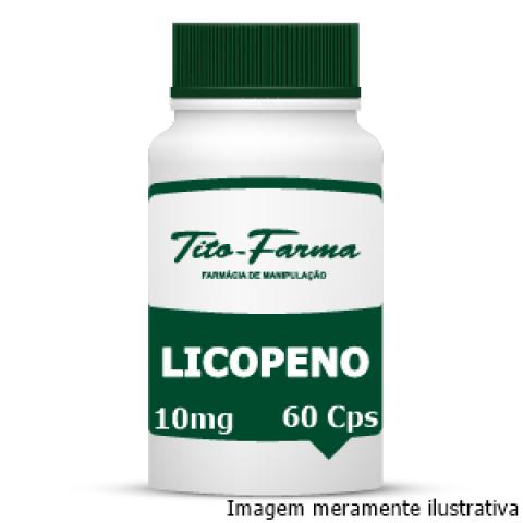 Licopeno - Auxilia a Reverter os Danos Causados pelo Fumo, Poluição e Radiação Solar (10mg - 60 Cps) - Tito Farma