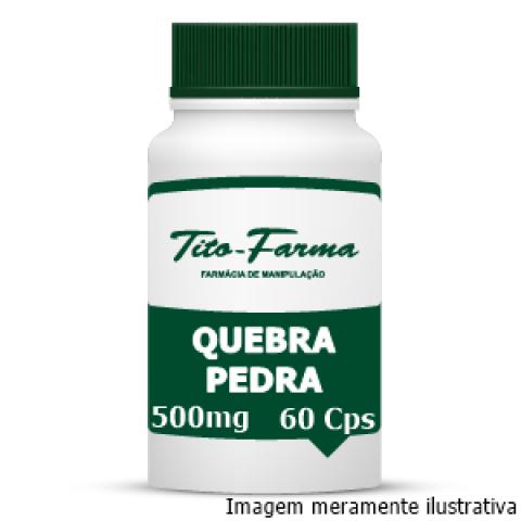 Quebra Pedra - Auxiliar no Tratamento de Afecções do Trato Urinário (500mg - 60 Cps) - Tito Farma
