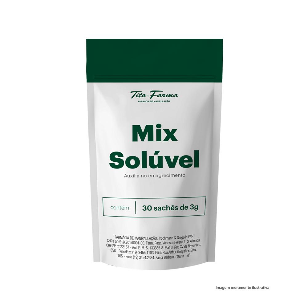 Mix Solúvel Auxiliar no Emagrecimento - 3g x 30 Sachês - Tito Farma