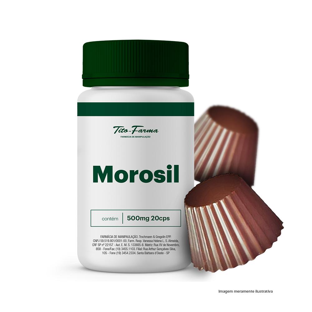 Kit com 20 Cps de Morosil + 10 Unidades Chocolate com Morosil - Auxilia na Queima de Gordura  - Tito Farma