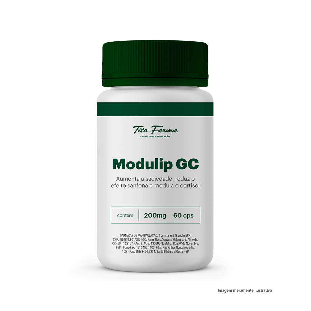 Modulip GC - Aumenta a Saciedade, Reduz o Efeito Sanfona e Modula o Cortisol (200mg - 60 Cps) - Tito Farma