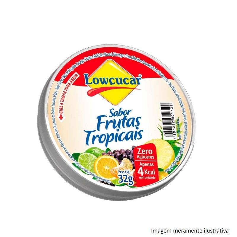 Drops Sem Açúcar (Sabor Frutas Tropicais) - 32g - Tito Farma