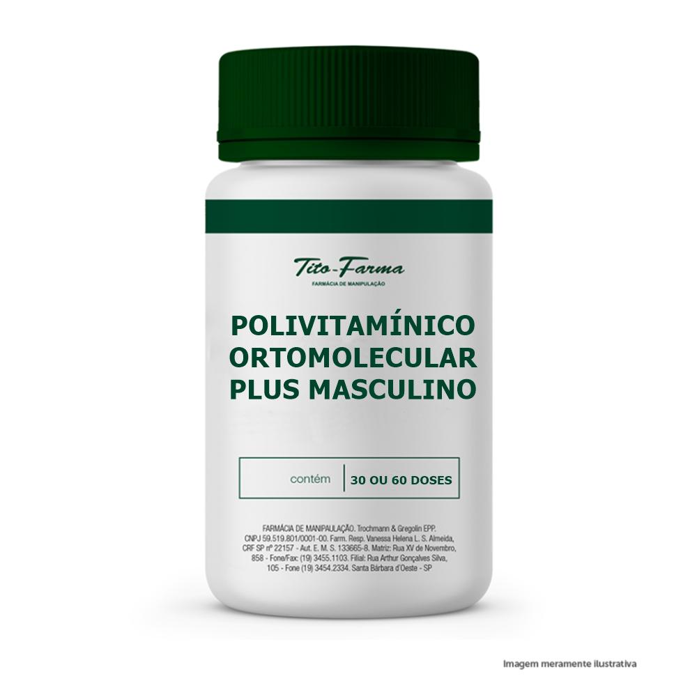 Polivitamínico Ortomolecular PLUS (Masculino)  - Tito Farma