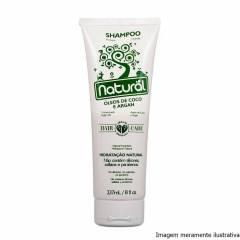Shampoo Vegano (Com Óleo de Coco e Argan) - Hidratação Natural - 237ml