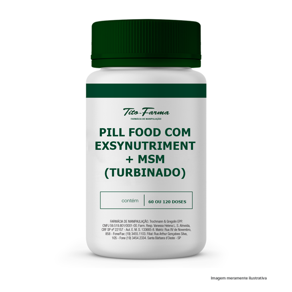Pill Food com Exsynutriment + MSM (Turbinado)  - Tito Farma