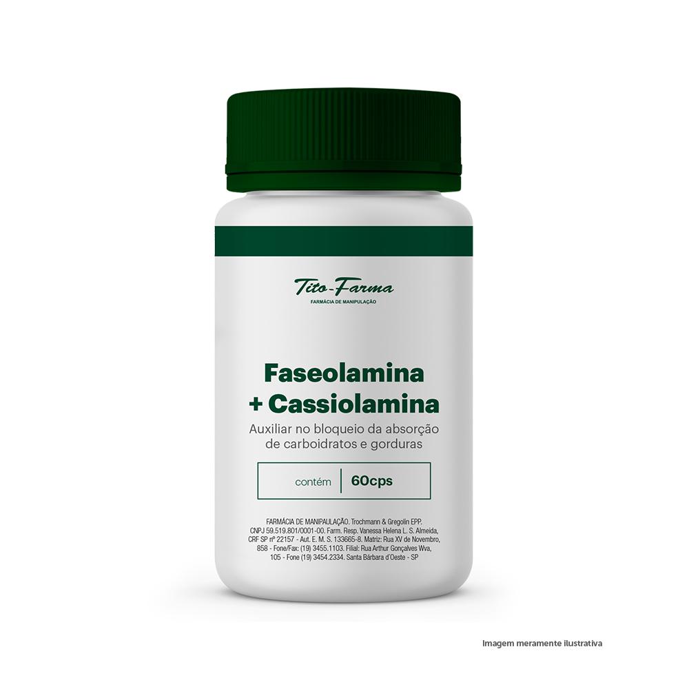Faseolamina + Cassiolamina - Auxiliar no Bloqueio da Absorção de Carboidratos e Gorduras (60 Cps) - Tito Farma