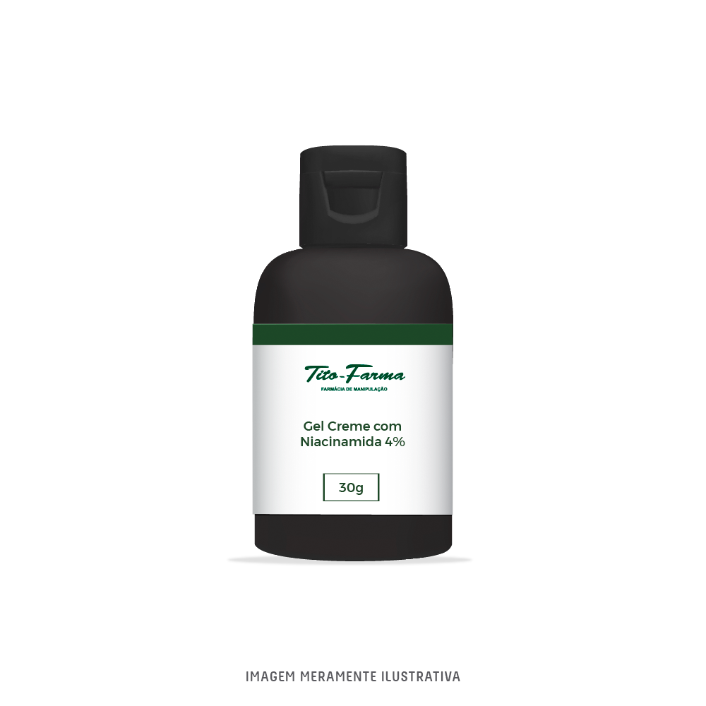 Gel Creme com Niacinamida 4% - Auxilia no Tratamento da Acne Leve a Moderada (30g) - Tito Farma