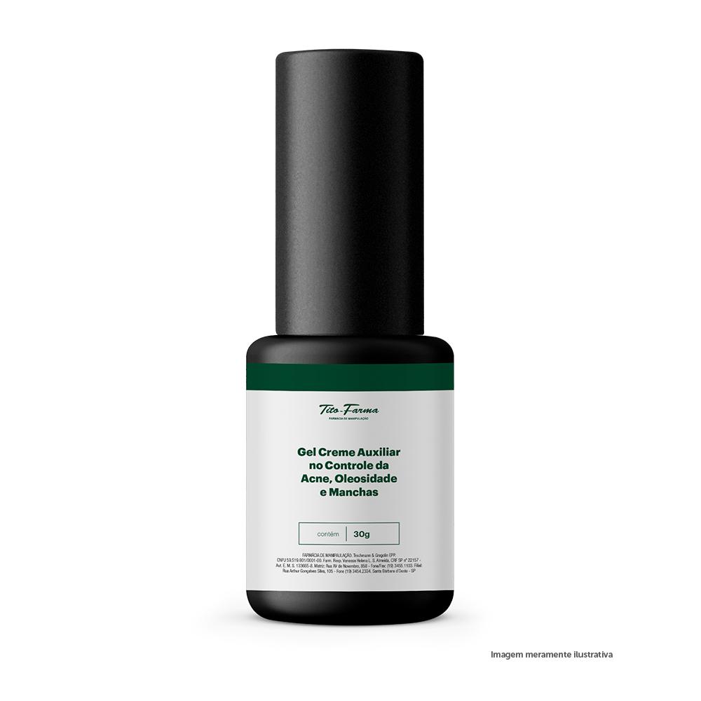 Gel Creme Auxiliar no Controle da Acne, Oleosidade e Manchas - 30g - Tito Farma